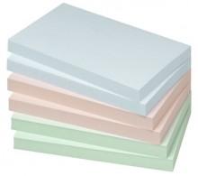 Haftnotiz, 125 x 75mm, 100 Blatt, Pastellgrün, Pastellblau,