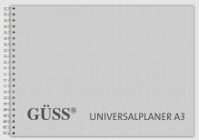 Güss Universalplaner DIN A3, 58 Wochen, Inhalt 110g MaxiOffset weiß