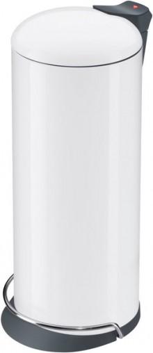 Tretabfallsammler Solid Design 26 Gehäuse weiß, Inneneimer verzinkt