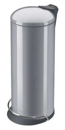 Tretabfallsammler Solid Design 26 Gehäuse silber, Inneneimer verzinkt