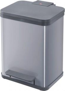 Tret-Mülltrenner Öko duo plus M silber, 2 x 9 Liter, herausnehmbare