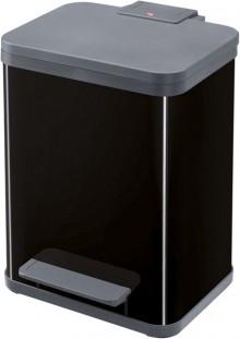 Tret-Mülltrenner Öko duo plus M schwarz, 2 x 9 Liter, herausnehmbare