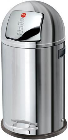 Hailo Großraum-Abfallbox KickMaxx 35 Liter, Edelstahl