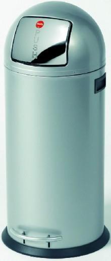 Tret-Abfallsammler KickMaxx 50 silber, Inneneimer verzinkt
