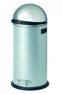 Hailo Großraum-Abfallbox KickVisier, 50 Liter, silber