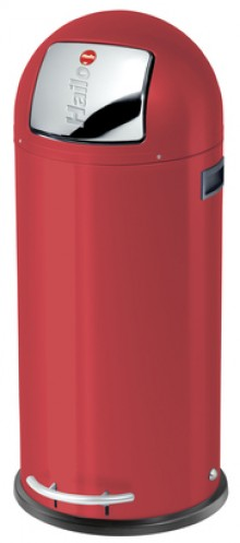 Hailo Großraum-Abfallbox KickMaxx 50 Liter, Stahlblech/signalrot