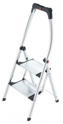 Hailo Komfort-Klapptritt 2 Stufen # 4302301 mit hochgeschwungenen