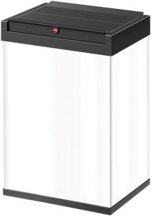 Hailo Großraum-Abfallbox Big-Box 40 Liter, Stahlblech weiß