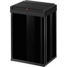 Hailo Großraum-Abfallbox Big-Box 40 Liter, Stahlblech schwarz
