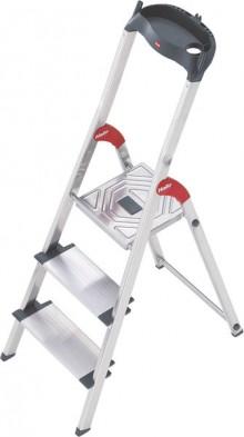 Alu-Sicherheits-Stehleiter L80 ComfortLine, 3 Stufen, Extra breite Stufen