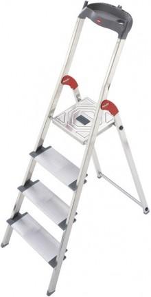 Alu-Sicherheits-Stehleiter L80 ComfortLine, 4 Stufen, Extra breite Stufen