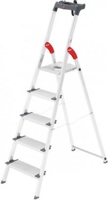 Alu-Sicherheits-Stehleiter L80 ComfortLine, 5 Stufen, Extra breite Stufen