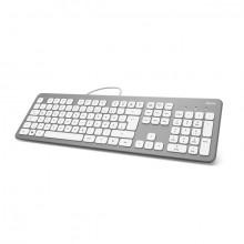 """Tastatur """"KC-700"""", Silber/Weiß Maße (BxHxT): 44 x 2,5 x 13,4cm"""