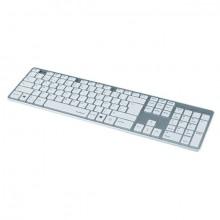 Tastatur Rossano weiß/silber kabelgebunden, flüsterleise Tasten