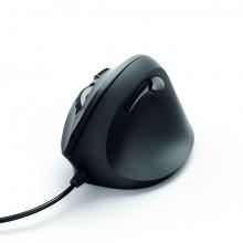 Vertikale, ergonomische Maus, EMC500, schwarz, 6-Tasten, kabelgebunden