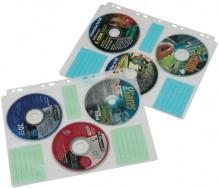 A4 CD-R Folienhüllen abheftbar 3 CDes je Folie mit Indexkarten