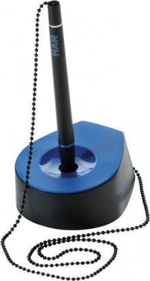 Stifteständer SALSA, mit Kette, schwarz/blau