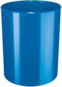 Design-Papierkorb 13 Liter, hochglänzend, blau