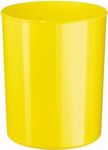 Design-Papierkorb 13 Liter, hochglänzend, gelb