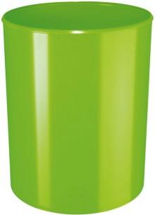 Design-Papierkorb 13 Liter, hochglänzend, grün