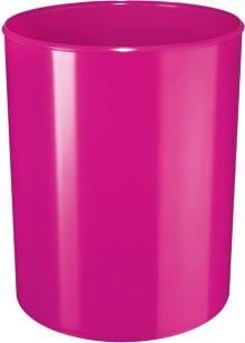 Design-Papierkorb 13 Liter, hochglänzend, pink