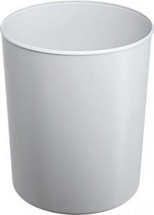 Design-Papierkorb 20 Liter grau flammhemmend, hochgänzend,
