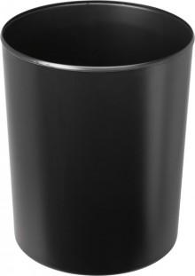 Design-Papierkorb 20 Liter schwarz flammhemmend, hochgänzend,