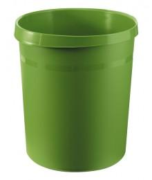 Papierkorb GRIP mit Rand, 18 l, grün, 2 Griffmulden, extra stabil