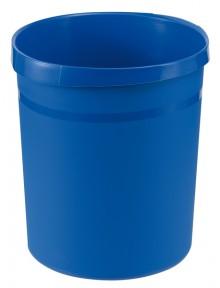 Papierkorb GRIP mit Rand, 18 l, blau, 2 Griffmulden, extra stabil