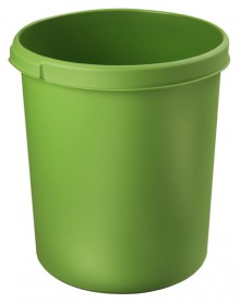 Papierkorb 30 Liter, rund, grün, mit 2 Griffmulden, extra stabil