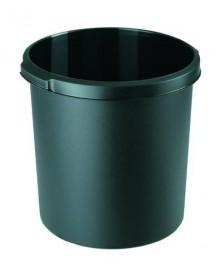 Papierkorb KLASSIK schwarz 30 Liter Griffrand und Griffmulden