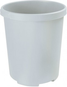 Groß-Papierkorb MOBIL XXL lichtgrau, 50 Liter, rund, extra stabil