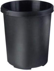 Han Groß-Papierkorb MOBIL XXL schwarz, 50 Liter, rund, extra stabil