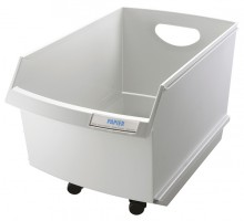 Papier Container LOGO Drive 25l, grau, ohne Rollen u. Deckel