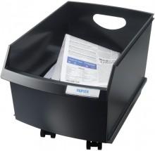 Papier Container LOGO Drive 25l, schwarz, ohne Rollen u. Deckel