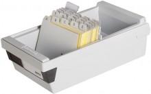 Karteikasten A7 quer f.800 Karten lichtgrau 133x250x121mm