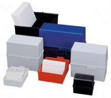 Karteibox A5 quer f.450 Karten blau 228x102x171mm