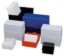 Karteibox A6 quer f.400 Karten blau 165x95x143mm