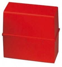Karteibox A7 quer f.300 Karten rot 121x74x101mm