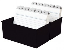 Karteibox A7 quer f.300 Karten schwarz 121x74x101mm