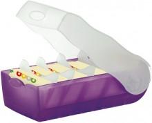 Lernkartei Karteibox A8 Croco quer für 500 Karten 97x191x67mm