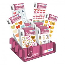 Schmucketikett Sortiment MAGIC Love Herzen 80 Pack