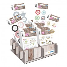 Schmucketikett Display HOME Geschenkesticker 60 Pack
