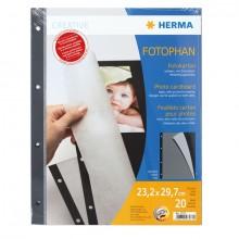 Fotokarton A4 schwarz 232x297 mit Schutzblatt 20Bl