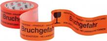 "PP Klebeband ""Bruchgefahr"", 66mx50mm, orange"
