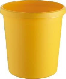 helit Papierkorb mit Rand, 18 l, gelb, hochwertiger und stoßfester