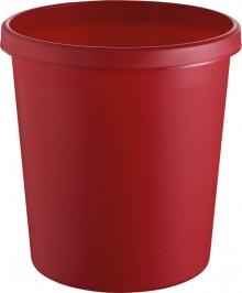 helit Papierkorb mit Rand, 18 l, rot, hochwertiger und stoßfester