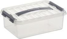 Kunststoff-Box 4 Liter, DIN A5, transparent, 300 x 200 x 100 mm,