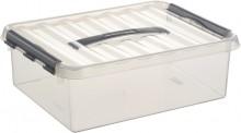 Kunststoff-Box 10 Liter, DIN A4, transparent, 400 x 300 x 110 mm,