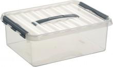 Kunststoff-Box 12 Liter, DIN A4, transparent, 400 x 300 x 140 mm,